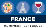 france icon set | Shutterstock .eps vector #1141100798