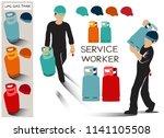 service worker of lpg gas for...   Shutterstock .eps vector #1141105508