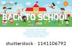 back to school  kids school ... | Shutterstock .eps vector #1141106792