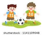 children  little boys playing... | Shutterstock .eps vector #1141109048
