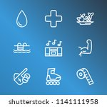 healthy icon set and diet with...