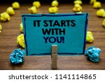 handwriting text it starts with ... | Shutterstock . vector #1141114865