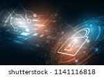 security cyber digital concept... | Shutterstock .eps vector #1141116818