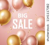 sale banner with pink and gold ... | Shutterstock .eps vector #1141117382
