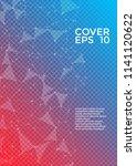 trendy report template. global... | Shutterstock .eps vector #1141120622