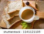 breakfast  coffee time | Shutterstock . vector #1141121105