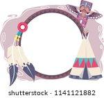 illustration of native american ... | Shutterstock .eps vector #1141121882