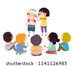 illustration of stickman kids... | Shutterstock .eps vector #1141126985
