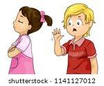 illustration of a kid girl... | Shutterstock .eps vector #1141127012
