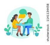 vector illustration of romantic ... | Shutterstock .eps vector #1141134458