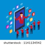 business online education | Shutterstock .eps vector #1141134542