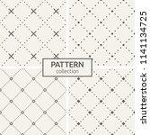 set of four seamless patterns....   Shutterstock .eps vector #1141134725