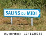 salt marshes panel in aigues... | Shutterstock . vector #1141135358
