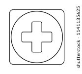 first aid. medical cross vector ... | Shutterstock .eps vector #1141135625