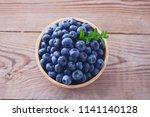 bowl full of blueberries  ...   Shutterstock . vector #1141140128