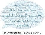 institutional racism word cloud ... | Shutterstock .eps vector #1141141442