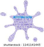 institutional racism word cloud ... | Shutterstock .eps vector #1141141445