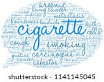 cigarette word cloud on a white ... | Shutterstock .eps vector #1141145045