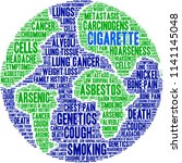 cigarette word cloud on a white ... | Shutterstock .eps vector #1141145048