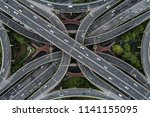 aerial view of highway and...   Shutterstock . vector #1141155095