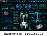 car auto service  modern design ... | Shutterstock .eps vector #1141169225