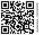 modern black qr code on white... | Shutterstock .eps vector #1141181492