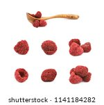 dried raspberry isolated | Shutterstock . vector #1141184282