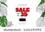 summer sale up to 35  vector... | Shutterstock .eps vector #1141191992