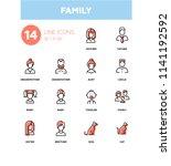 family   modern line design... | Shutterstock .eps vector #1141192592