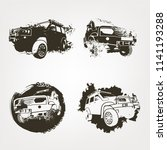 off road logo elements set.... | Shutterstock .eps vector #1141193288