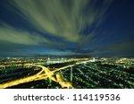 Vienna skyline at night, Austria - stock photo
