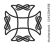 celtic cross with national...   Shutterstock .eps vector #1141206938