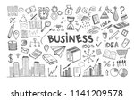 management concept with doodle... | Shutterstock .eps vector #1141209578