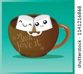 vector coffee logo ya java love ... | Shutterstock .eps vector #1141216868