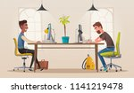 funny business characters in... | Shutterstock .eps vector #1141219478
