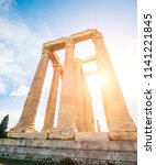 ruins of the temple of olympian ...   Shutterstock . vector #1141221845