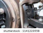 brake disc grinding machine  ... | Shutterstock . vector #1141223558