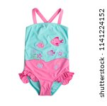 Pink blue swimsuit for children ...