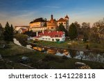 historical chateau in... | Shutterstock . vector #1141228118