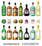 alcohol drinks in a bottle with ... | Shutterstock .eps vector #1141236515