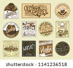vintage american badge.... | Shutterstock .eps vector #1141236518