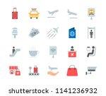airport vector icons set | Shutterstock .eps vector #1141236932