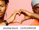 happy love  two men making a... | Shutterstock . vector #1141240418