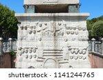 the obelisk of theodosius ... | Shutterstock . vector #1141244765