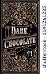 dark chocolate   vintage... | Shutterstock .eps vector #1141261235