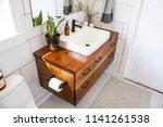modern decorated bathroom... | Shutterstock . vector #1141261538