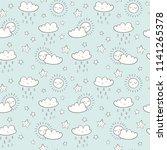 doodle sky vector pattern. cute ...   Shutterstock .eps vector #1141265378