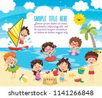 vector ilustration of summer... | Shutterstock .eps vector #1141266848