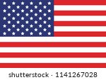 american flag. vector image of... | Shutterstock .eps vector #1141267028