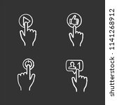 app buttons chalk icons set.... | Shutterstock .eps vector #1141268912
